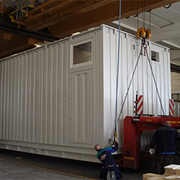 Container for electrical substation