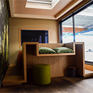 Prefabricated hotel room – interior view