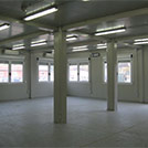 Inside view of the accommodation complex for building sites