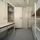 Inside view of the container for offshore accommodations - Series SHELTER Modules