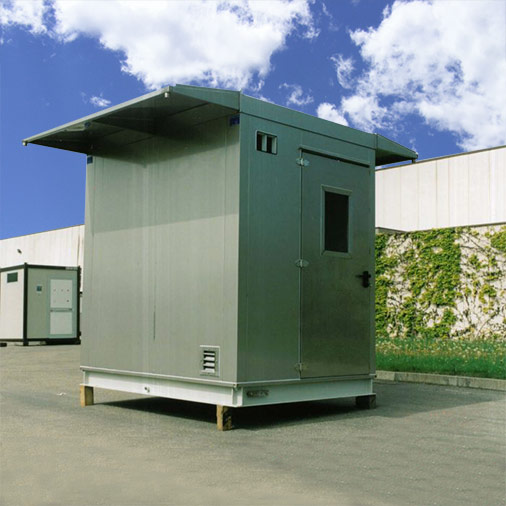 Environmental telecommunications shelter with side roofing – Series Shelter Modules