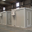 6x2.4 meter technical shelters with A/C,  which fit the most diversified applications - Series SHELTER Modules