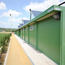 Sports hall with multipurpose rooms (changing rooms, toilet facilities, storage rooms and technical rooms) - Modules Series 2000