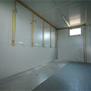Inner view of shower room of the multipurpose sports hall - Modules Series 2000