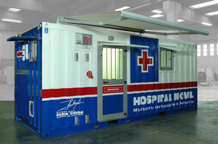 Mobile health clinics: insulated container units