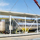Modular construction with large-sized water heaters for the Oil & Gas industry - Series SHELTER Modules