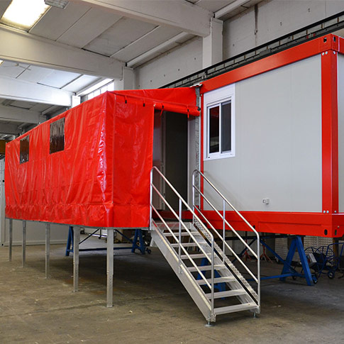 Dormitory module Series M1 built for the Italian Fire Department (VVFF)