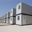 Temporary accommodation camps for refugees, two-story modules series 1000