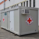Toilet facilities module of the Italian Red Cross, 6.0x2.4 meters - Module series M1