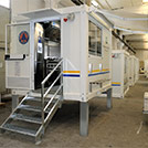 3.0x2.40 meters mobile kitchen module for the Civilian Protection - Module series M1