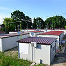 Temporary accommodation camps after the Emilia Region Earthquake in 2012 - Modules series M1 with double roofing