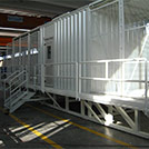 Outside view of staircases and gangways for Power Transformer container (TRAFO)