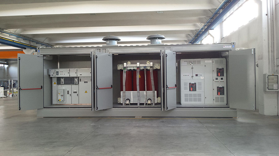 Board room CONTAINER for LV/MV and transformer - Italy