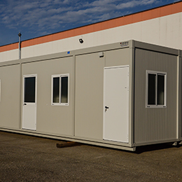 Changing room for sport facilities Series 1000 – m 12.10 x 4.80