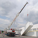 12x2.4 meter container lifting tests for welding workshop  - Series SHELTER Modules