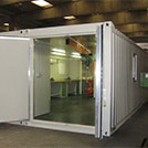 Electrical and mechanical workshop modular building with inside view - Series SHELTER Modules