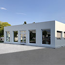 Cladded prefabricated office compound