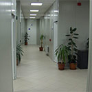Management offices building corridor