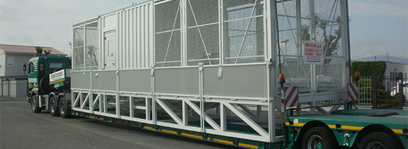 TRAFO container transport stage